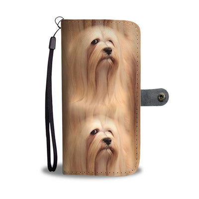 Cute Lhasa Apso Dog Print Wallet Case-Free Shipping - Deruj.com