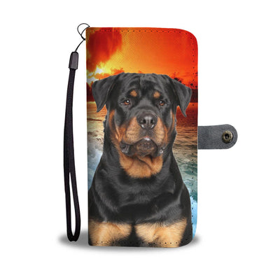 Rottweiler Print Wallet Case- Free Shipping
