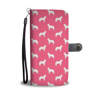 Australian Cattle Dog Pattern Print Pink Wallet Case-Free Shipping - Deruj.com