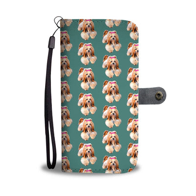 Cute Lhasa Apso Dog Pattern Print Wallet Case-Free Shipping - Deruj.com
