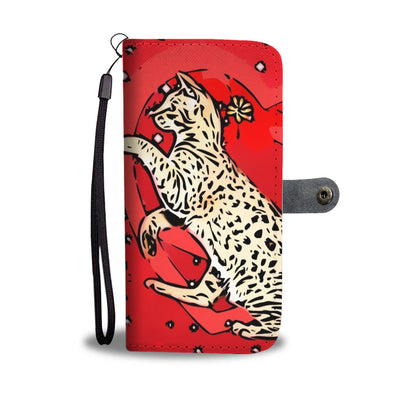 Ocicat in heart Print On Red Wallet Case-Free Shipping - Deruj.com