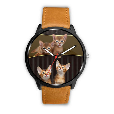 Abyssinian cat Print Wrist Watch-Free Shipping - Deruj.com