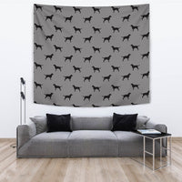 Curly Coated Retriever Dog Pattern Print Tapestry-Free Shipping - Deruj.com