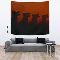 Amazing German Shepherd Dog Shadow Print Tapestry-Free Shipping - Deruj.com
