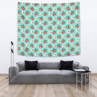 Bull Terrier Dog Floral Print Tapestry-Free Shipping - Deruj.com