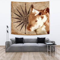 Amazing Hereford Cattle Print Tapestry-Free Shipping - Deruj.com