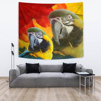 Blue and Yellow Macaw Print Tapestry-Free Shipping - Deruj.com