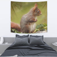 Red Squirrel Print Tapestry-Free Shipping - Deruj.com