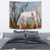 Chianina Cattle (Cow) Print Tapestry-Free Shipping - Deruj.com