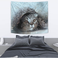 Lovely Cat Art Print Tapestry-Free Shipping - Deruj.com
