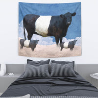 Amazing Belted Galloway Cattle (Cow) Print Tapestry-Free Shipping - Deruj.com