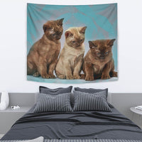 Lovely Burmese Cat Print Tapestry-Free Shipping - Deruj.com