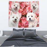 West Highland White Terrier Print Tapestry-Free Shipping - Deruj.com
