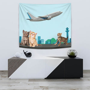 Happy Cats Print Tapestry-Free Shipping - Deruj.com