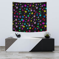 Colorful Paws Print Tapestry-Free Shipping - Deruj.com