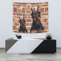 Miniature Pinscher Dog Print Tapestry-Free Shipping - Deruj.com