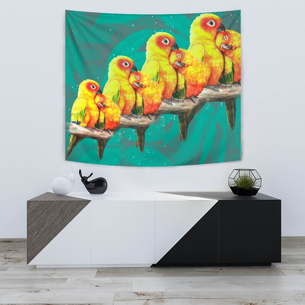 Sun Conure Parrot Print Tapestry-Free Shipping - Deruj.com