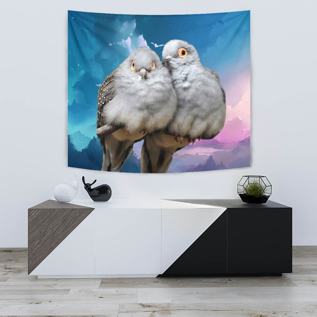 Lovely Diamond Dove Bird Print Tapestry-Free Shipping - Deruj.com