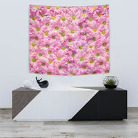 Pink Daisy Flower Print Tapestry-Free Shipping - Deruj.com