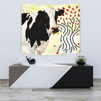 Holstein Friesian cattle (Cow) Print Tapestry-Free Shipping - Deruj.com