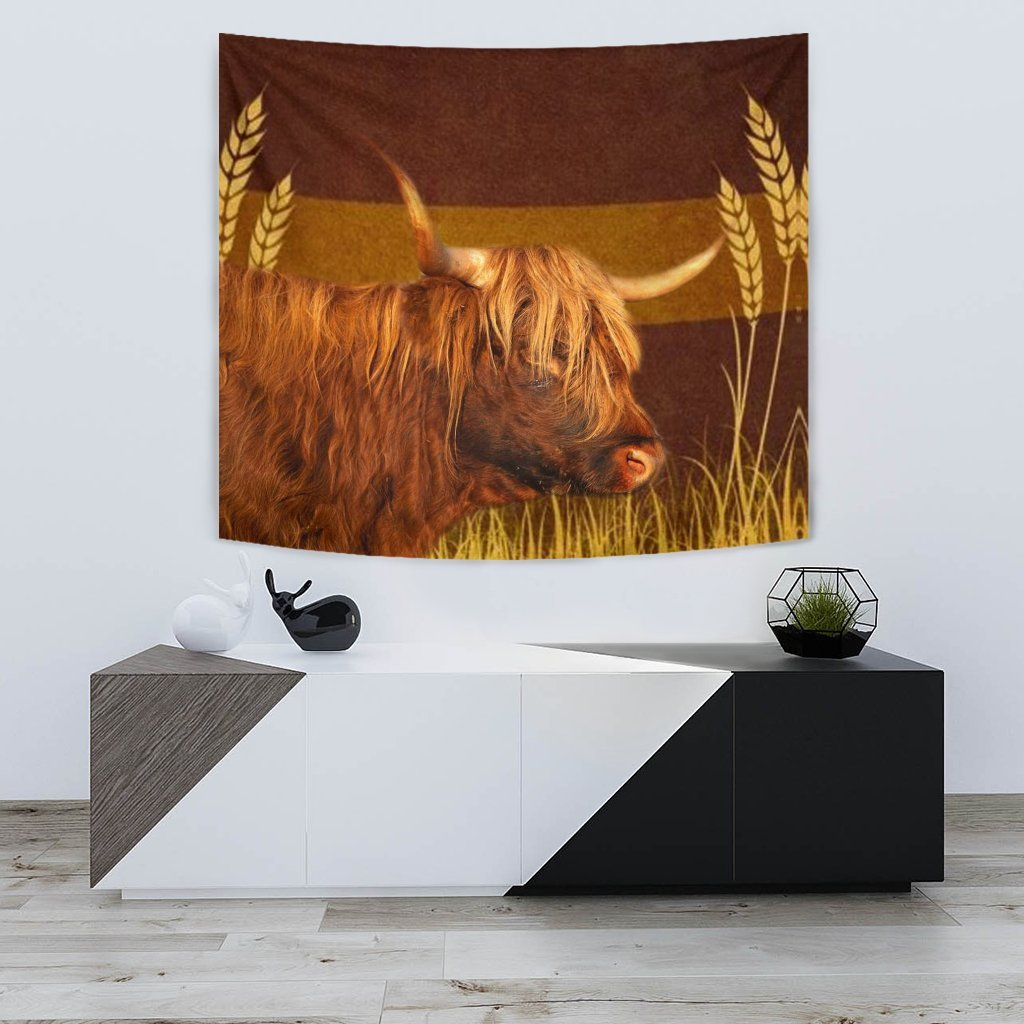 Highland Cattle (Cow) Print Tapestry-Free Shipping - Deruj.com