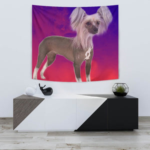 Chinese Crested Dog Print Tapestry-Free Shipping - Deruj.com