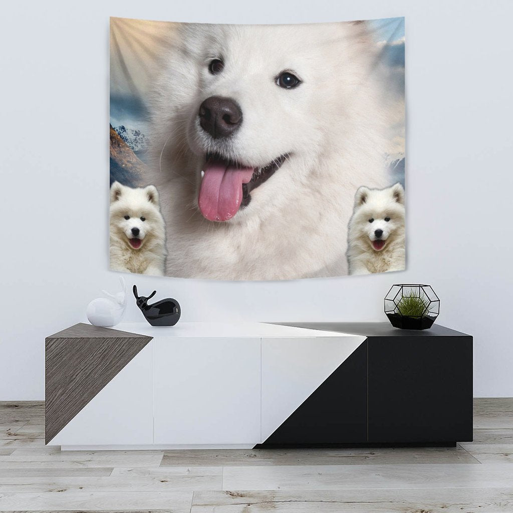 Cute Samoyed Dog Print Tapestry-Free Shipping - Deruj.com
