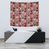 Pit Bull Dog Pattern Print Tapestry-Free Shipping - Deruj.com