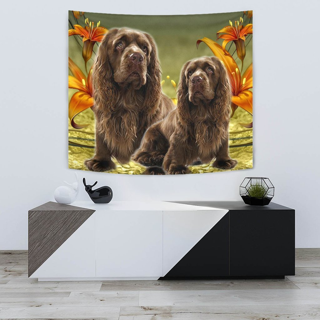 Sussex Spaniel Print Tapestry-Free Shipping - Deruj.com