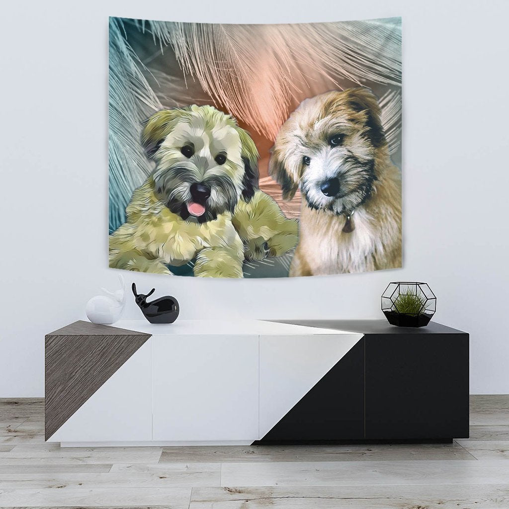 Soft-Coated Wheaten Terrier Print Tapestry-Free Shipping - Deruj.com
