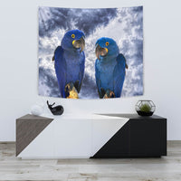 Cute Hyacinth Macaw Print Tapestry-Free Shipping - Deruj.com