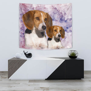 Amazing American Foxhound Dog Print Tapestry-Free Shipping - Deruj.com