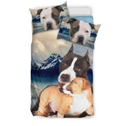Cute Pit Bull Terrier Dog Print Bedding Set- Free Shipping - Deruj.com