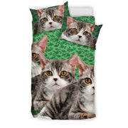 Lovely American Wirehair Cat Print Bedding Set-Free Shipping - Deruj.com