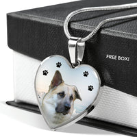 Chinook Dog Print Heart Pendant Luxury Necklace-Free Shipping - Deruj.com