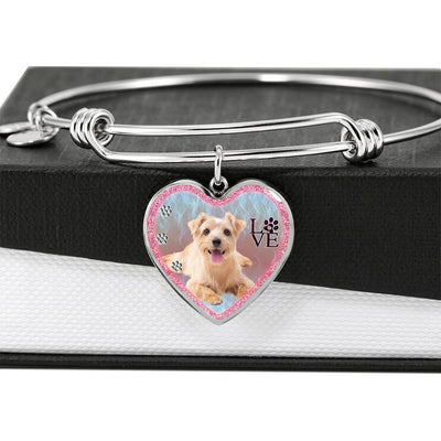 Norfolk Terrier Dog Heart Pendant Bangle-Free Shipping - Deruj.com