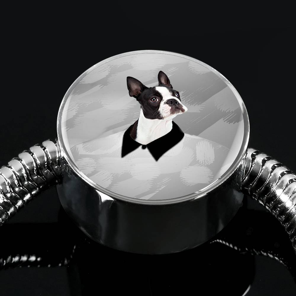 Boston Terrier Print Steel Bracelet-Free Shipping - Deruj.com