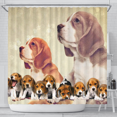 Cute Beagle Print Shower Curtain-Free Shipping - Deruj.com