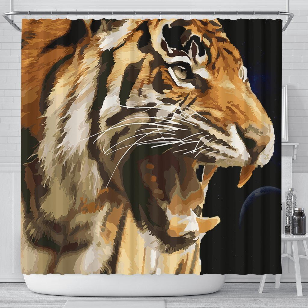 Amazing Tiger Art Print Limited Edition Shower Curtains-Free Shipping - Deruj.com