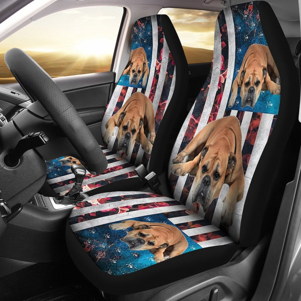 BullMastiff Dog Floral Print Car Seat Covers-Free Shipping - Deruj.com