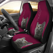 Chartreux Cat Print Car Seat Covers-Free Shipping - Deruj.com