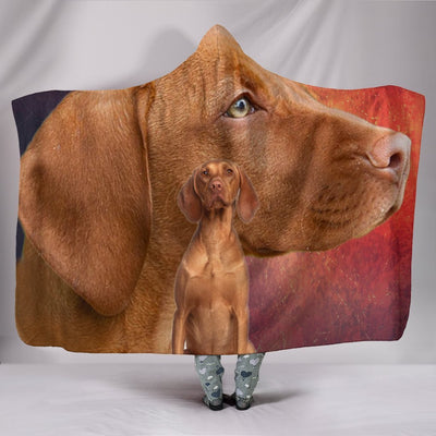 Vizsla Dog Print Hooded Blanket-Free Shipping - Deruj.com