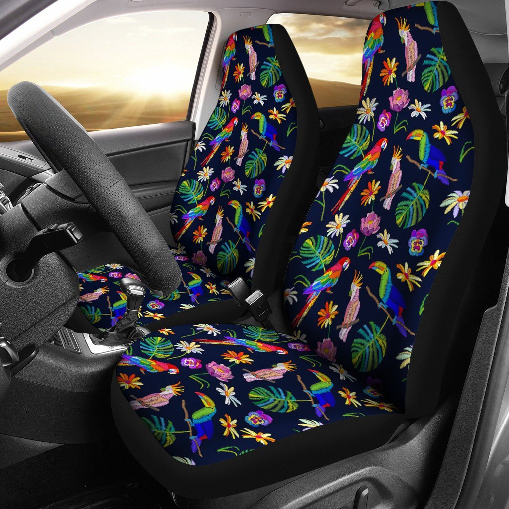 Lovely Parrot Floral Print Car Seat Covers-Free Shipping - Deruj.com