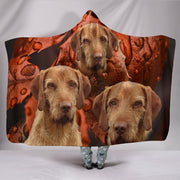 Wirehaired Vizsla Print Hooded Blanket-Free Shipping - Deruj.com