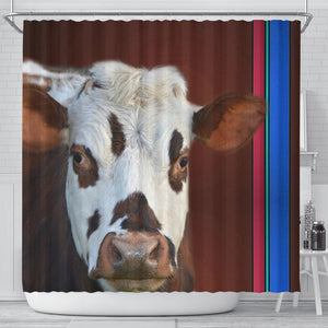 Cute Normande Cattle (Cow) Print Shower Curtain-Free Shipping - Deruj.com