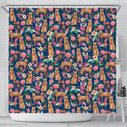 Australian Cattle Dog Floral Print Shower Curtains-Free Shipping - Deruj.com