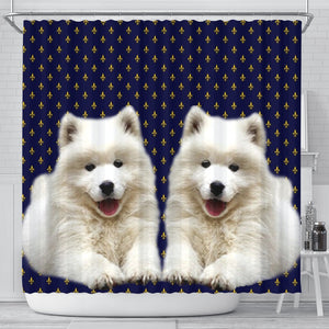 Cute Samoyed Dog Print Shower Curtains-Free Shipping - Deruj.com