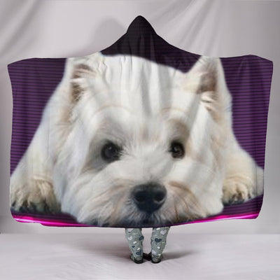 West Highland White Terrier (Westie) Print Hooded Blanket-Free Shipping - Deruj.com