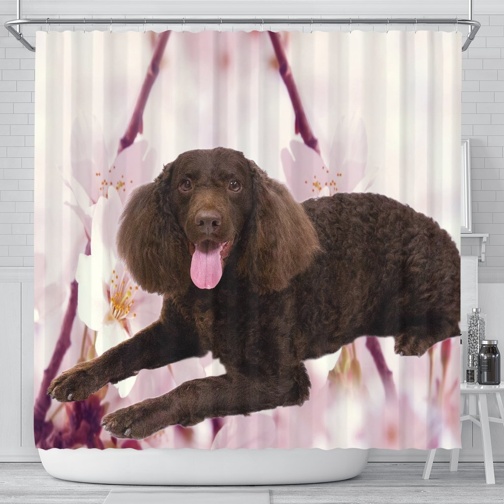 American Water Spaniel Print Shower Curtains-Free Shipping - Deruj.com