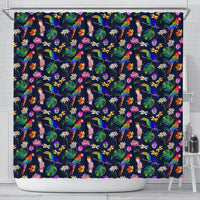 Lovely Parrot Floral Print Shower Curtains-Free Shipping - Deruj.com